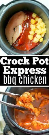 Crock Pot Express Barbecue Chicken - Recipes #chickendumplingscrockpot Crock Pot Express Barbecue Chicken  - Recipes - #Barbecue #Chicken #Crock #Express #Pot #Recipes #chickendumplingscrockpot