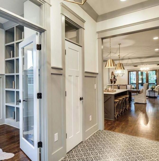 Baseboard Color On Accent Wall: Using A Color For Your Trim And Molding Can Completely