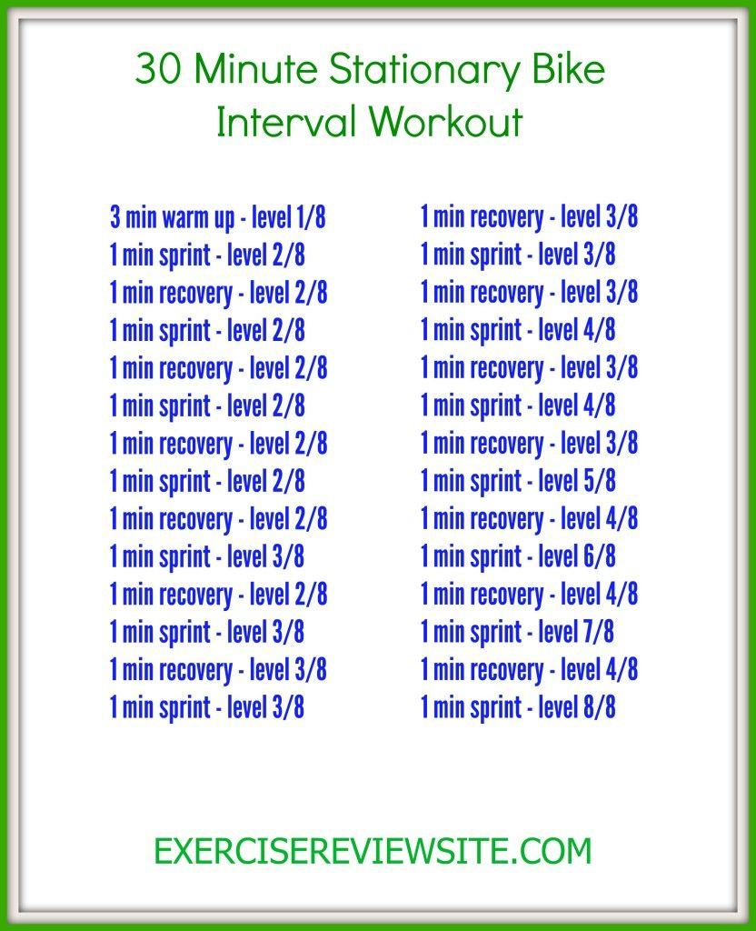 1a3d8fb0586 30 Minute Stationary Bike Interval Workout Plus