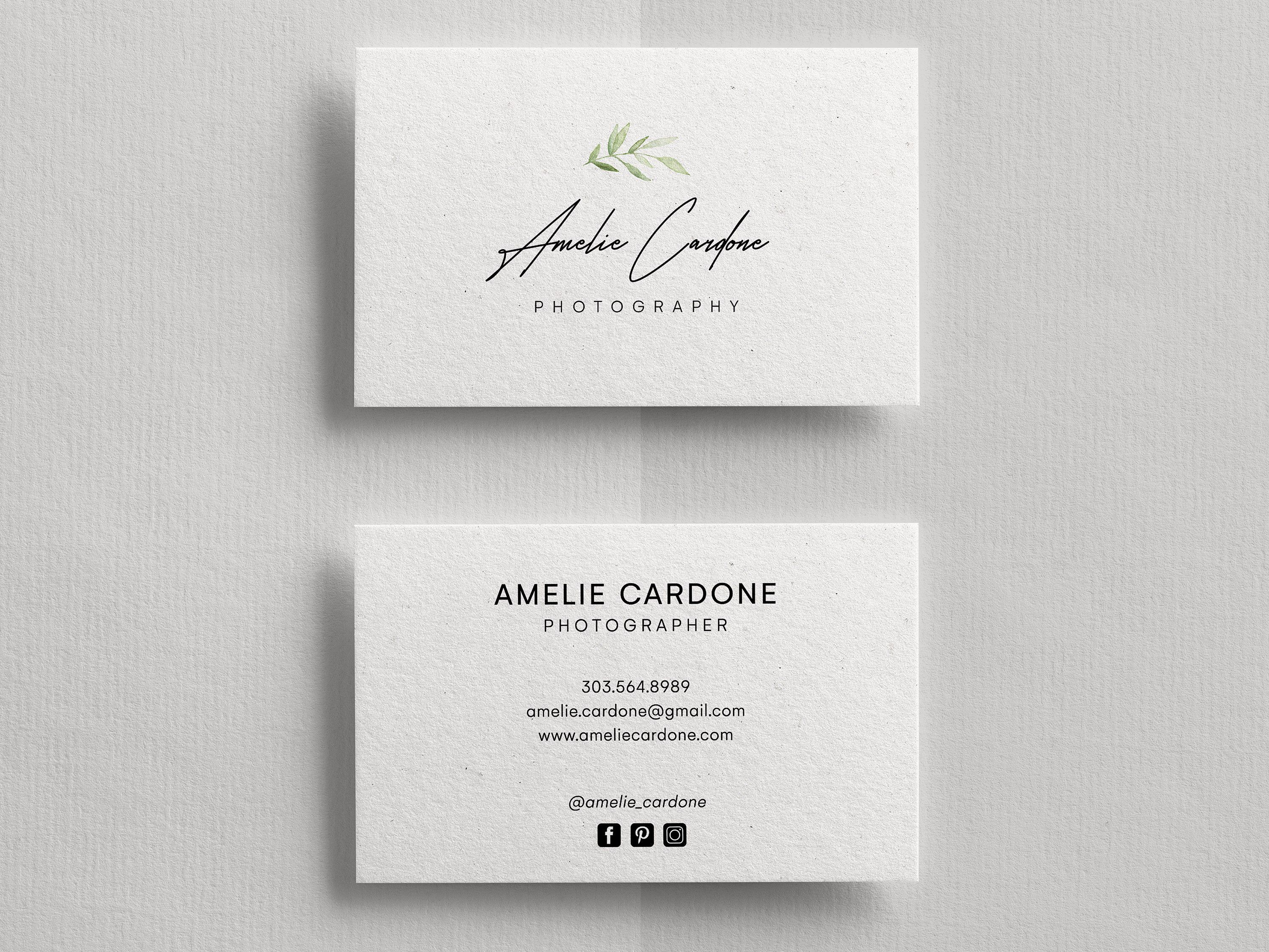 Business Card Template Business Cards Business Card Design Etsy Photography Business Cards Photography Business Cards Template Business Cards Photography