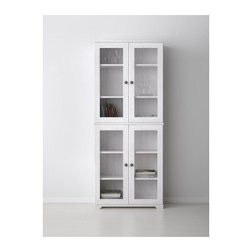 Ikea Borgsjo Glass Door Display Curio Cabinet White Bookcases