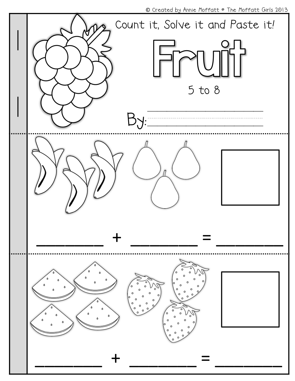 Math Booklets Simple Addition And Subtraction Cut And Paste