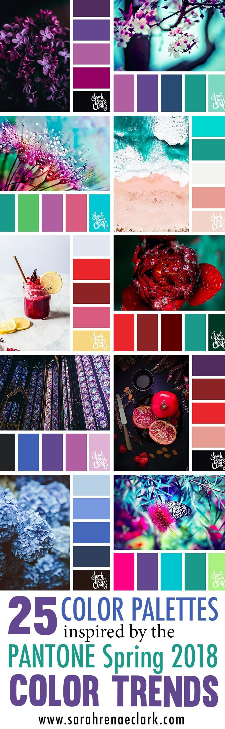 25 Color Palettes Inspired by the Pantone Spring 2018 Color Trends NY and London