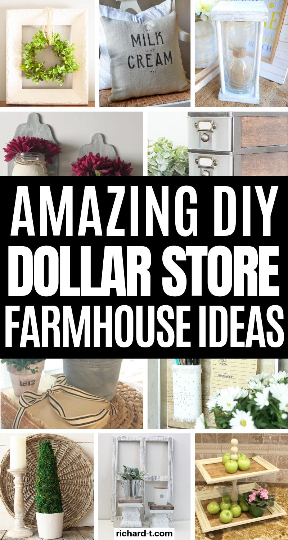 22 Amazing Dollar Store Diy Farmhouse Decor Ideas Diy Farmhouse Decor Dollar Stores Dollar Store Diy