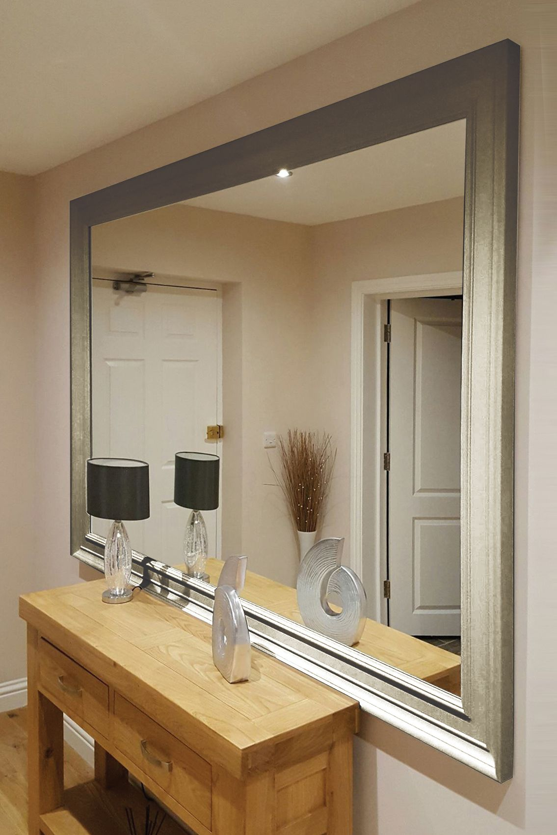 Oxford Extra Large Silver Mirror 206x145cm Extra Large Wall Mirrors Large White Mirror Mirror Wall