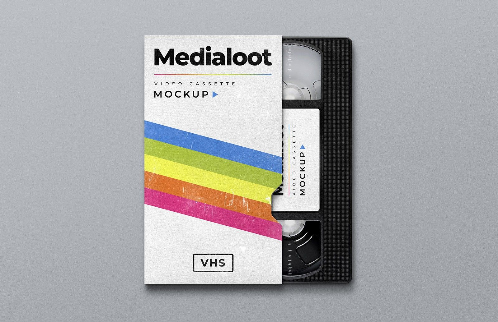 Medialoot Vhs Cassette Cover Mockup Vhs Cassette Vhs Cassette