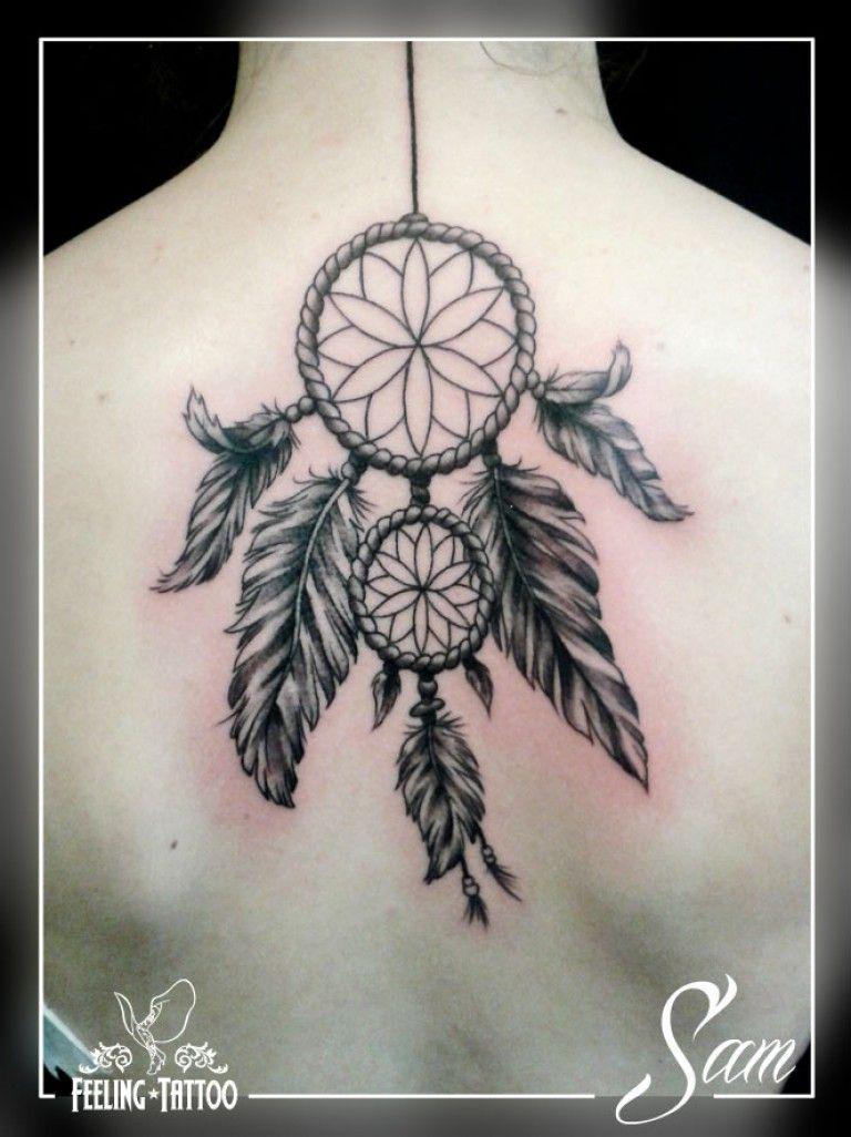 Attrape Reve Plume Dos Femme Tatoo And Tattoo