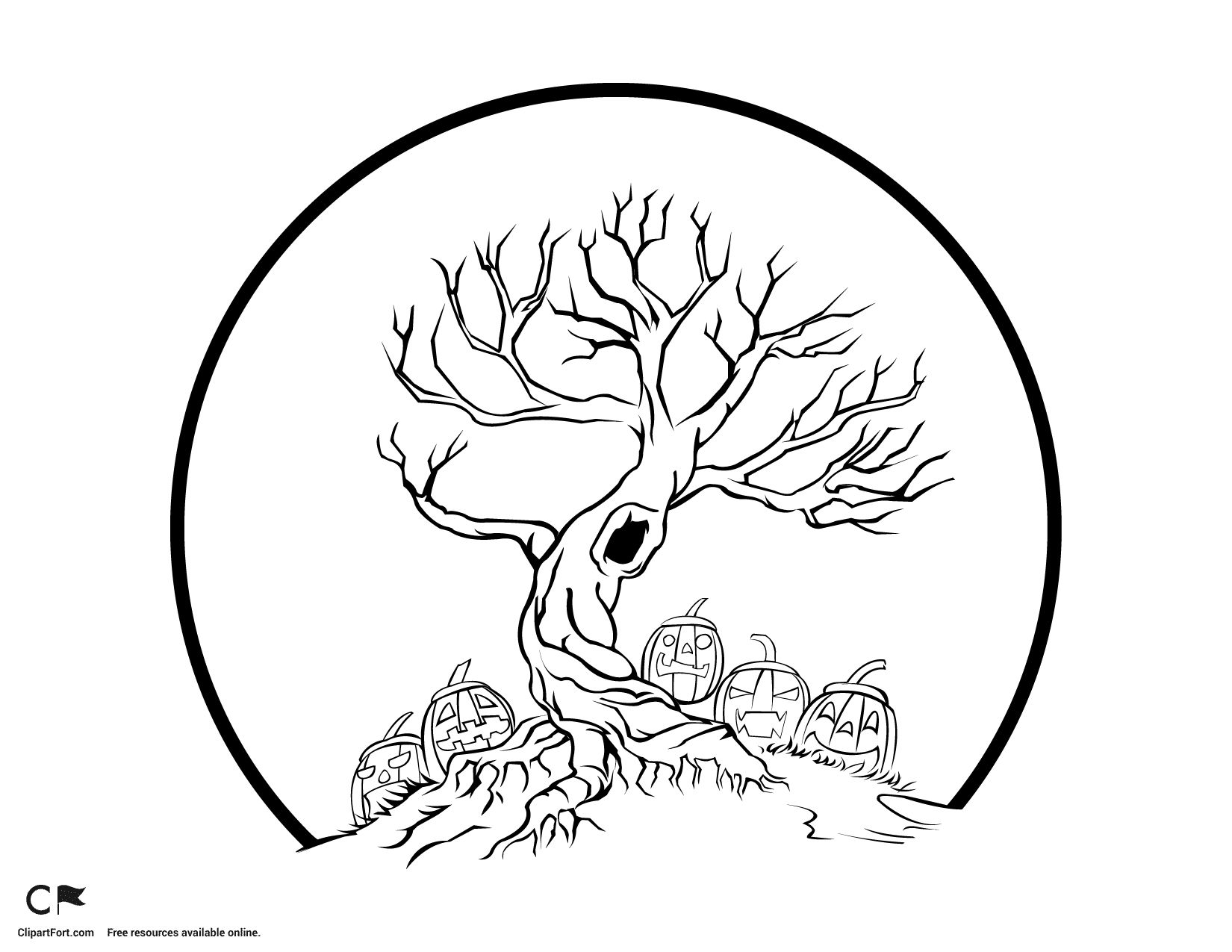 The Halloween Tree Coloring Pages Free Tree Coloring Page Halloween Coloring Pages Halloween Coloring