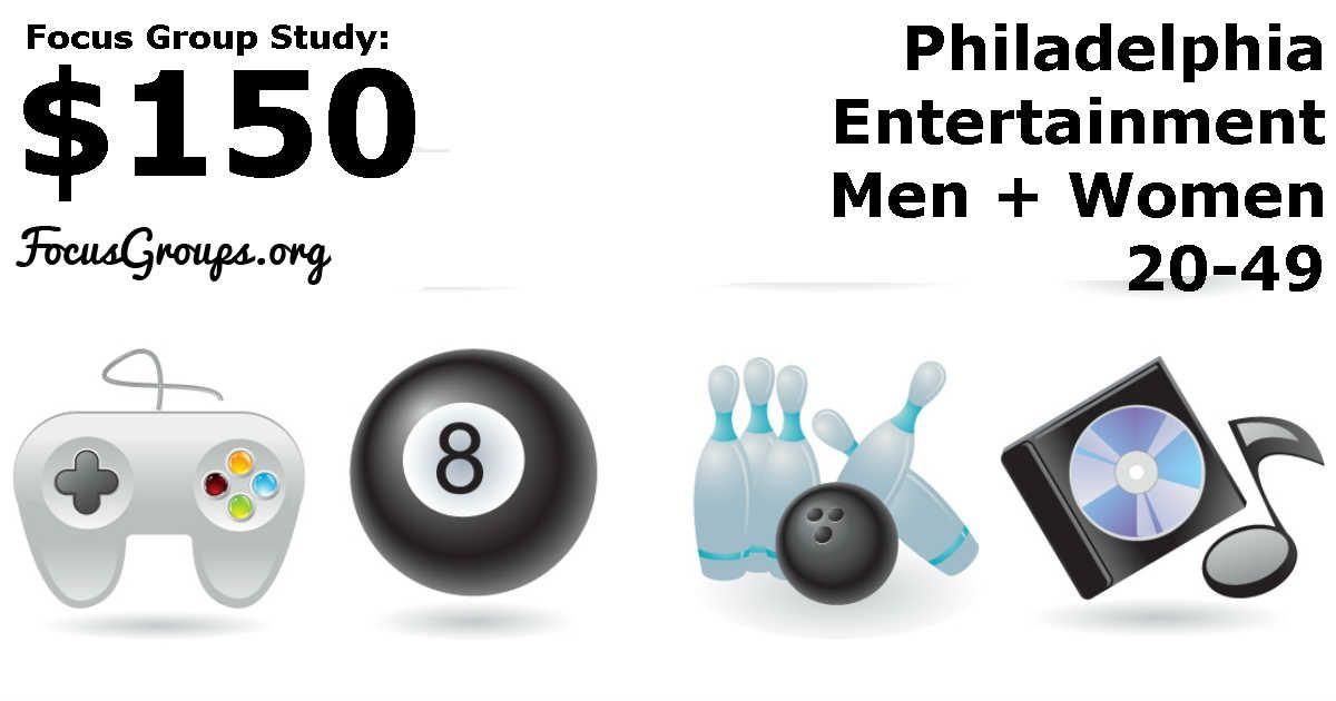 Focus group on entertainment in philadelphia 150