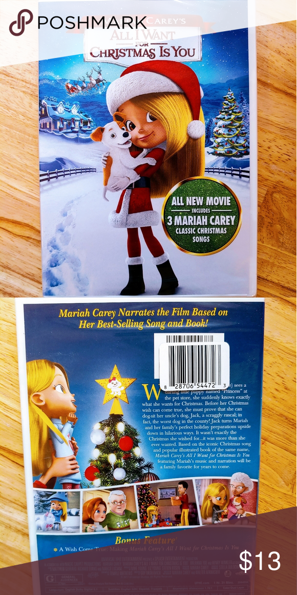 Mariah Carey S All I Want For Christmas Is You Dvd Nwt Mariah Carey Classic Christmas Songs Mariah Carey Christmas