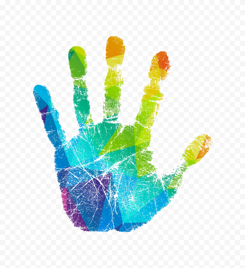Children Painted Handprints Vector Handprint Clipart Color Hand Painted Png Transparent Clipart Image And Psd File For Free Download Painting For Kids Vector Art Design Hand Painted