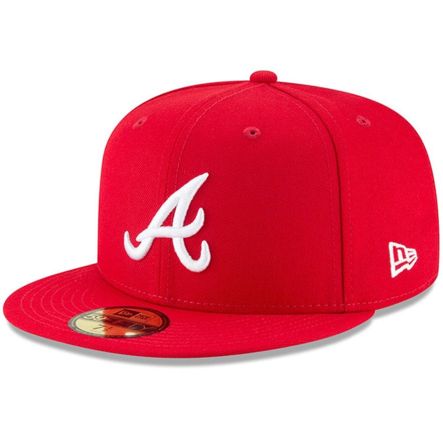 Men S New Era Red Atlanta Braves Fashion Color Basic 59fifty Fitted Hat In 2020 Atlanta Braves Fashion Fashion Colours Fitted Hats