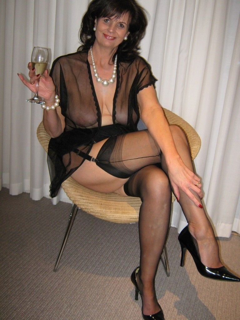 Stockings Suspenders And Heels  Crossdressers Wearing -8408