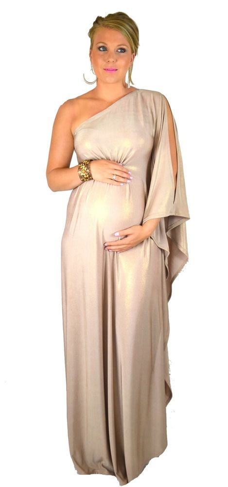 18fe37cd3ec14 Ladies 'Golden Goddess' Maternity Kaftan Maxi Formal Dress Size 6-26 and  Plus