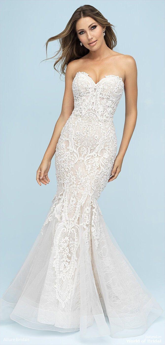 Allure Bridals Spring 2019 Wedding Dresses World Of Bridal Wedding Dresses Kleinfeld Allure Wedding Dresses Fit And Flare Wedding Dress [ 1400 x 670 Pixel ]