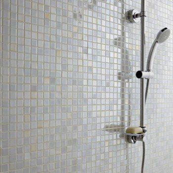 Mosaïque sol et mur Prestige blanc Leroy Merlin Bathroom Pinterest - pose carrelage mural salle de bain
