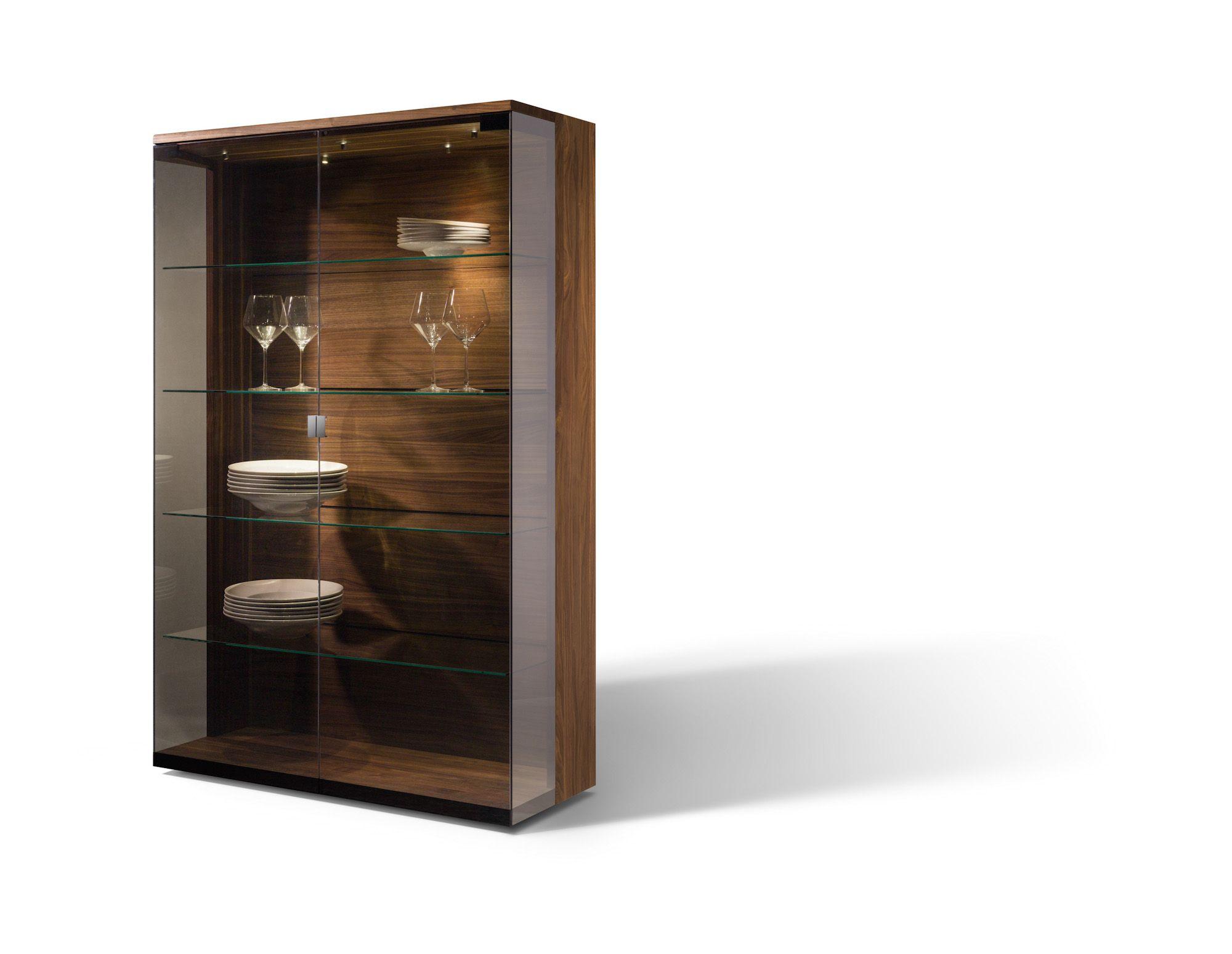 Vitrine | Nussbaum massiv | Holz | Glas - bei Möbel Morschett ...