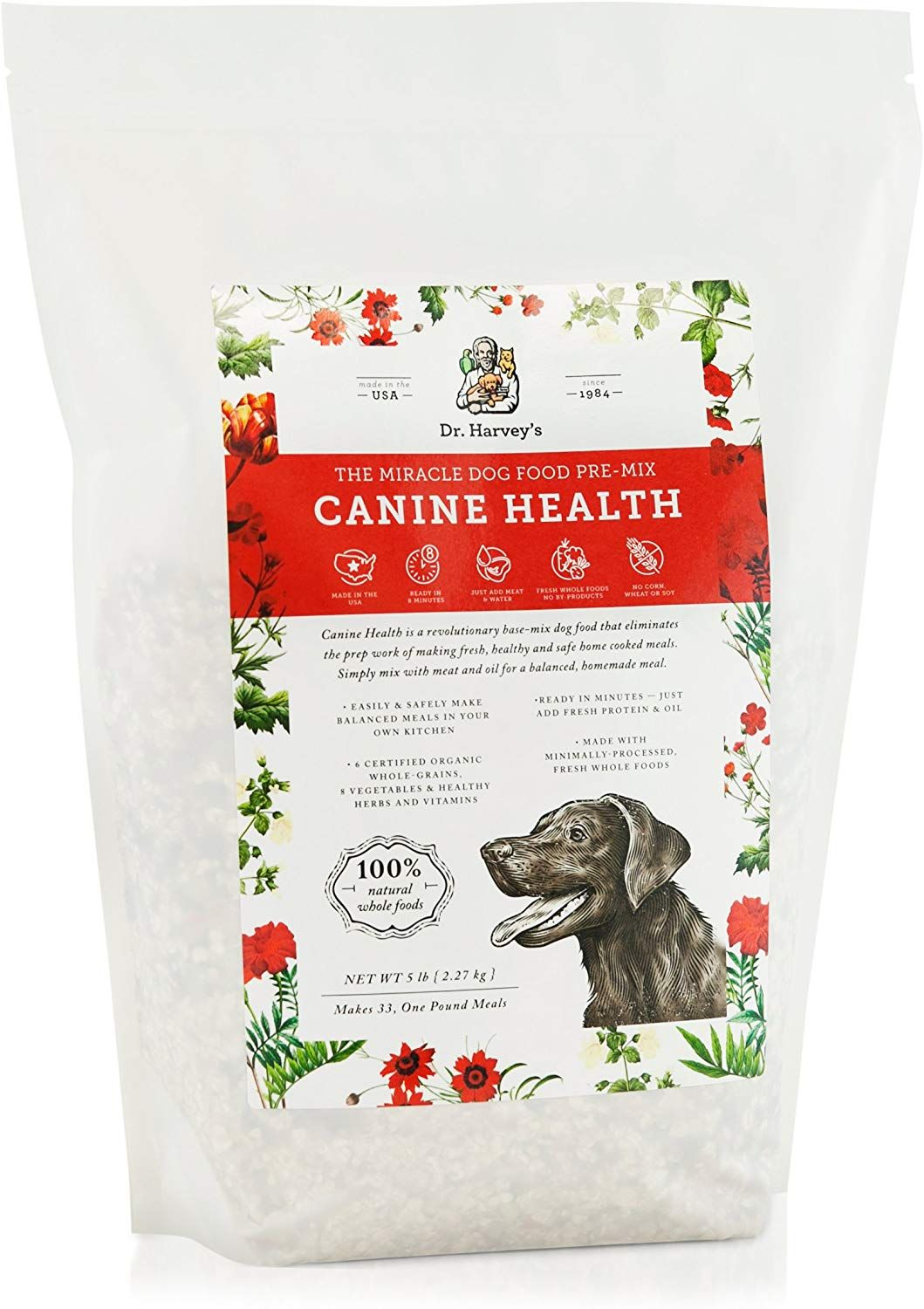 Dr Harvey S Canine Health Miracle Dog Food Human Grade Dehydrated Base Mix For Dogs With Organic Dog Food Recipes Dehydrated Dog Food Organic Dog Food