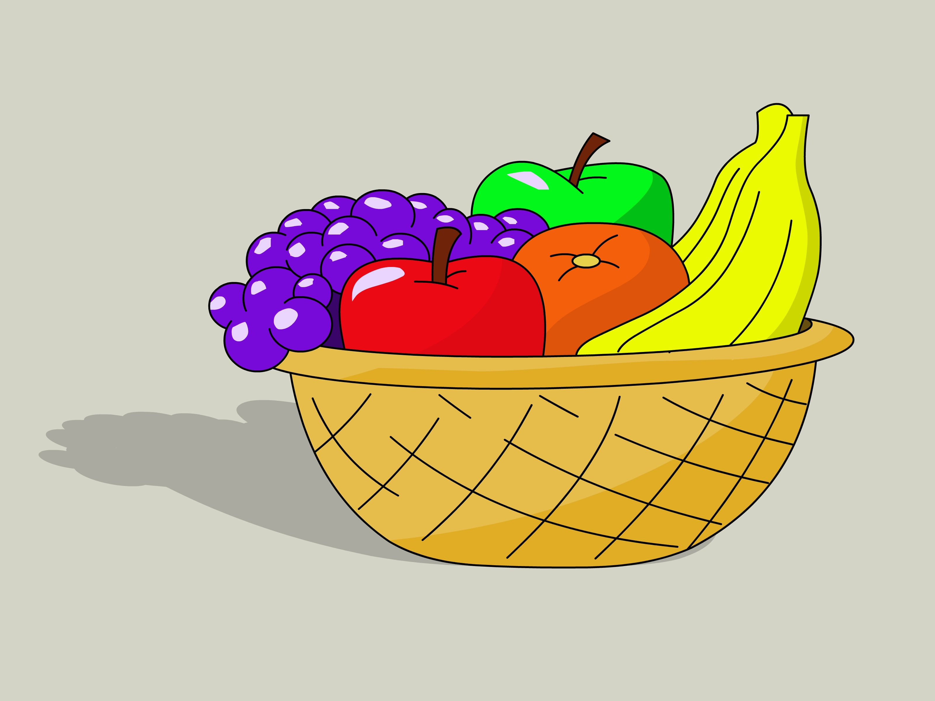Drawn Basket Sketch 26