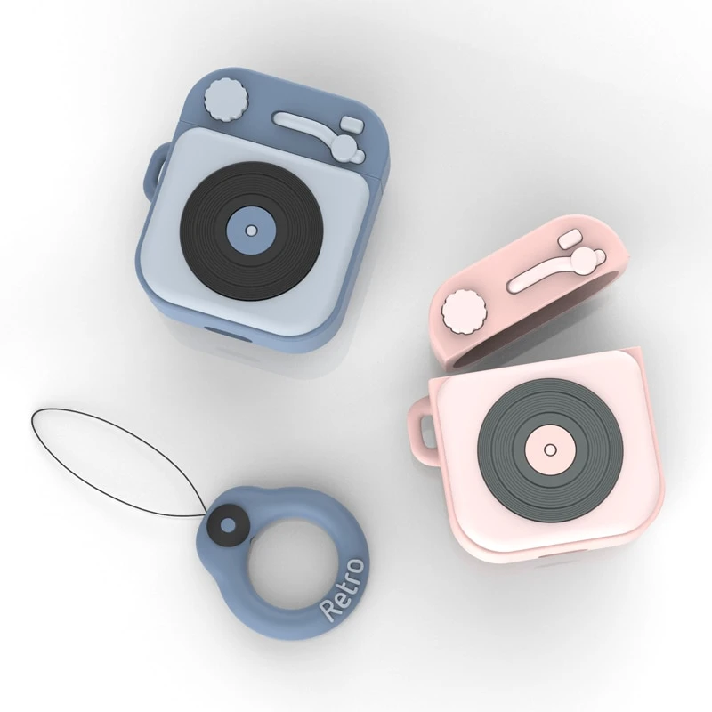 SoCouple Earphone Case For Airpods Case Silicone Cute Retro Soft Silicone Headphone Case for iPhone Air pods Earpods Accessories Outfit Accessories From Touchy Style. | Free International Shipping.