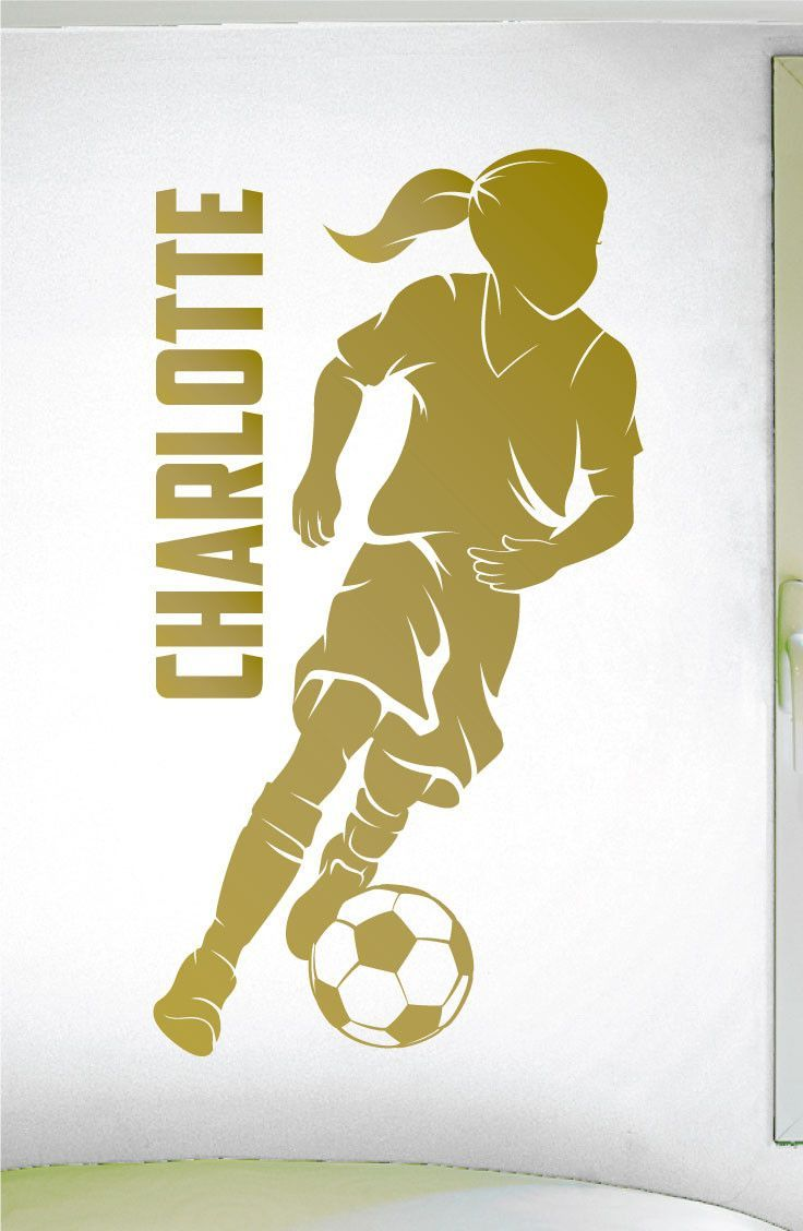 Custom Girls Name Soccer Decal -0272- Personalized Girls Soccer Wall ...