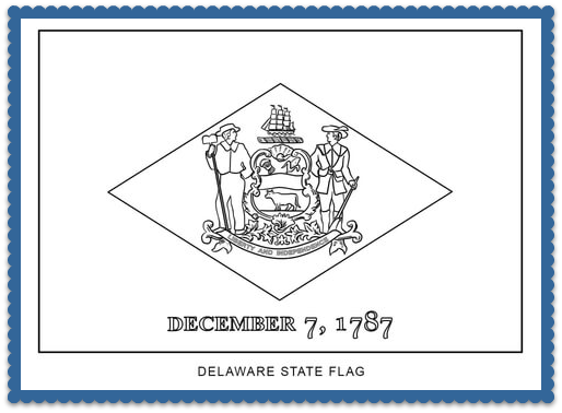 State Flag Coloring Pages by USA Facts for Kids | Usa facts