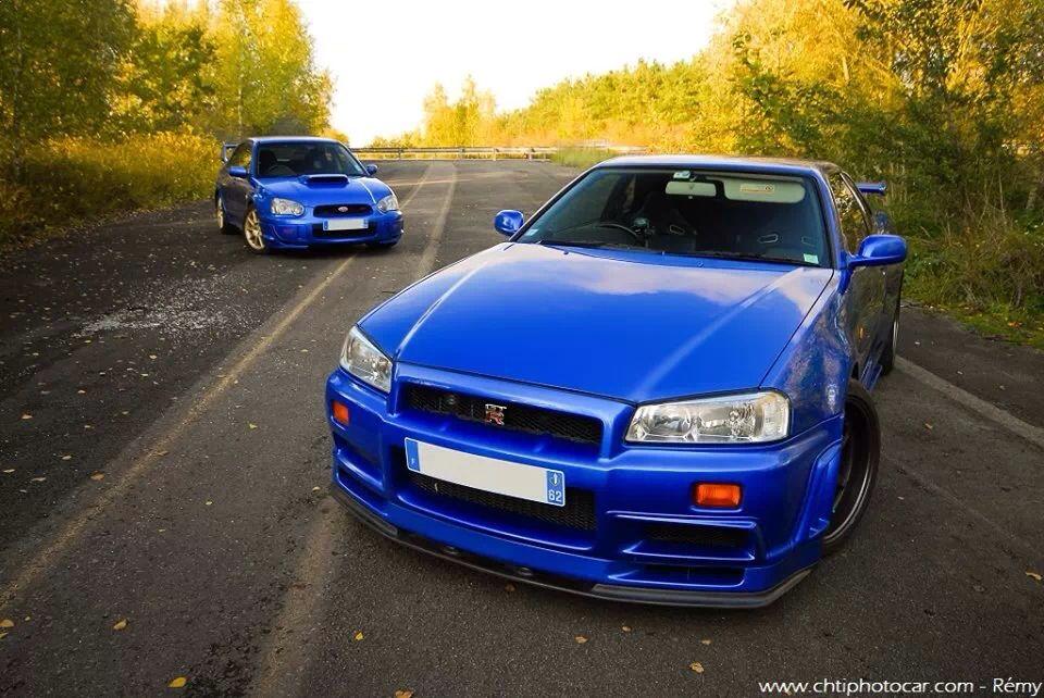 Subaru Impreza Sti Nissan Skyline Gtr R34 Arabalar