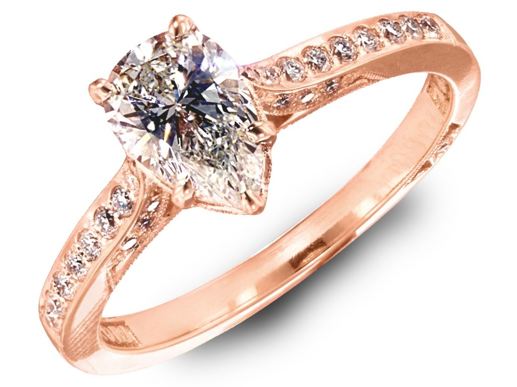 Rose gold tacori dantela ring rings anniversary rings