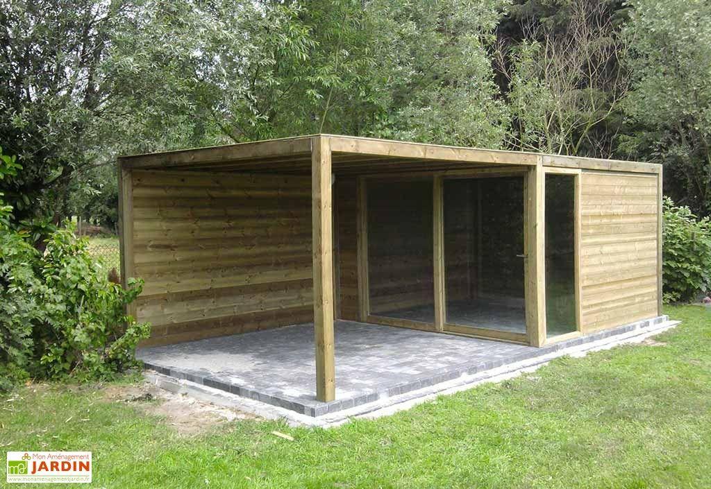 abri de jardin bois exterior 350x350x230 sapin rouge la paroi et abris de jardin. Black Bedroom Furniture Sets. Home Design Ideas