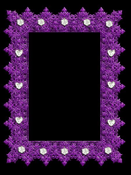 Purple Transparent Frame With Diamonds Flower Frame Frame Romantic Frame