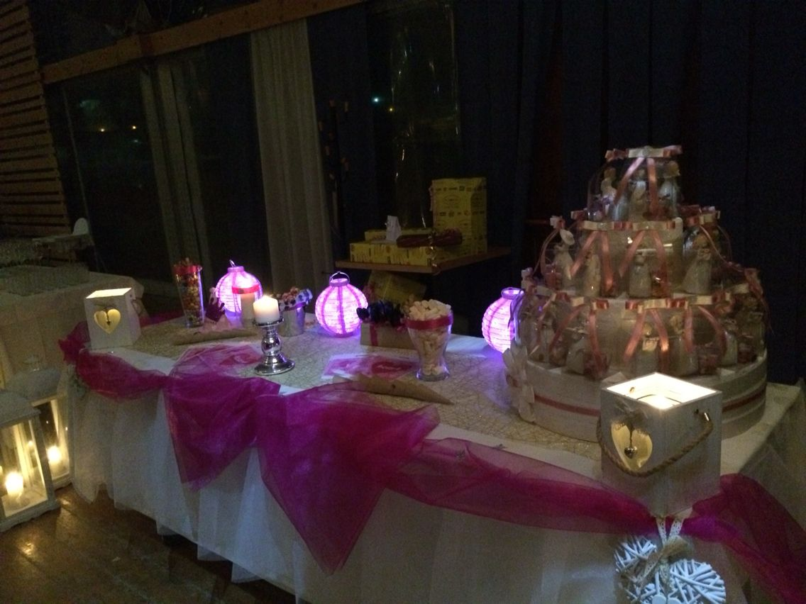 Candy buffet and gift  Ginevra's party