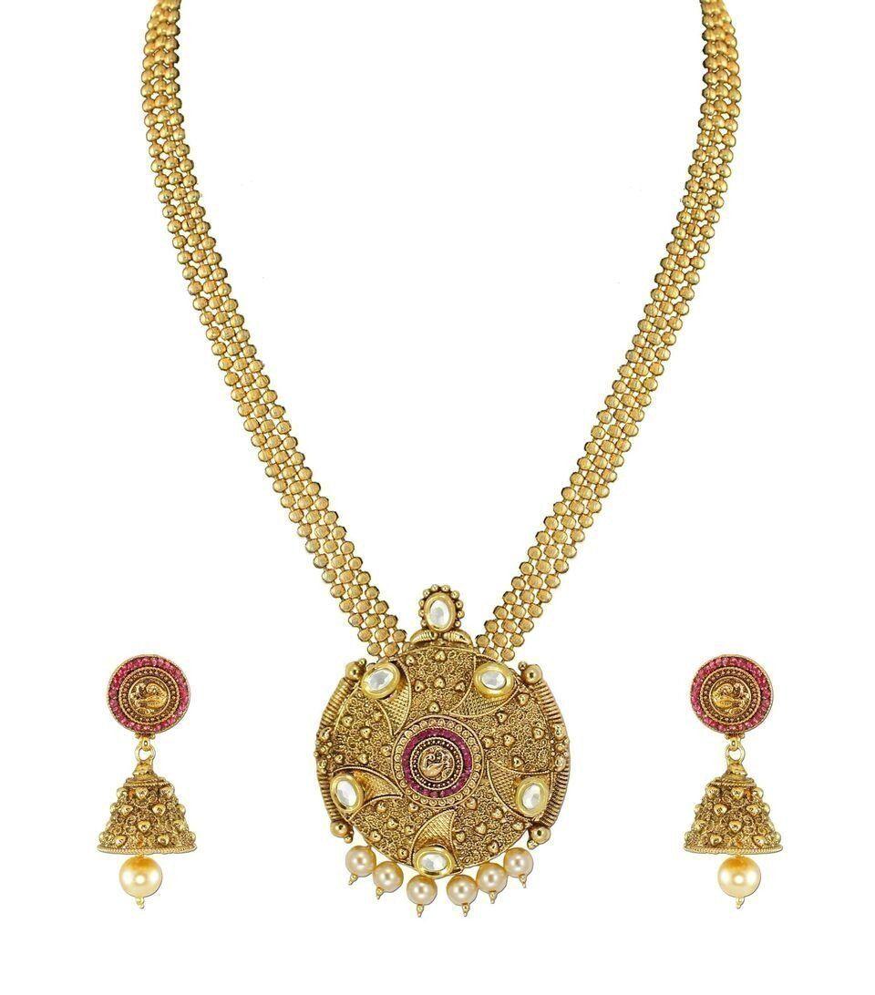 Zaveri pearls long haram necklace set zaveri pearls jewellery
