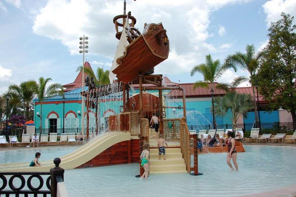 Caribbean Beach Resort Old Port Royale Pirate Ship Splash Zone