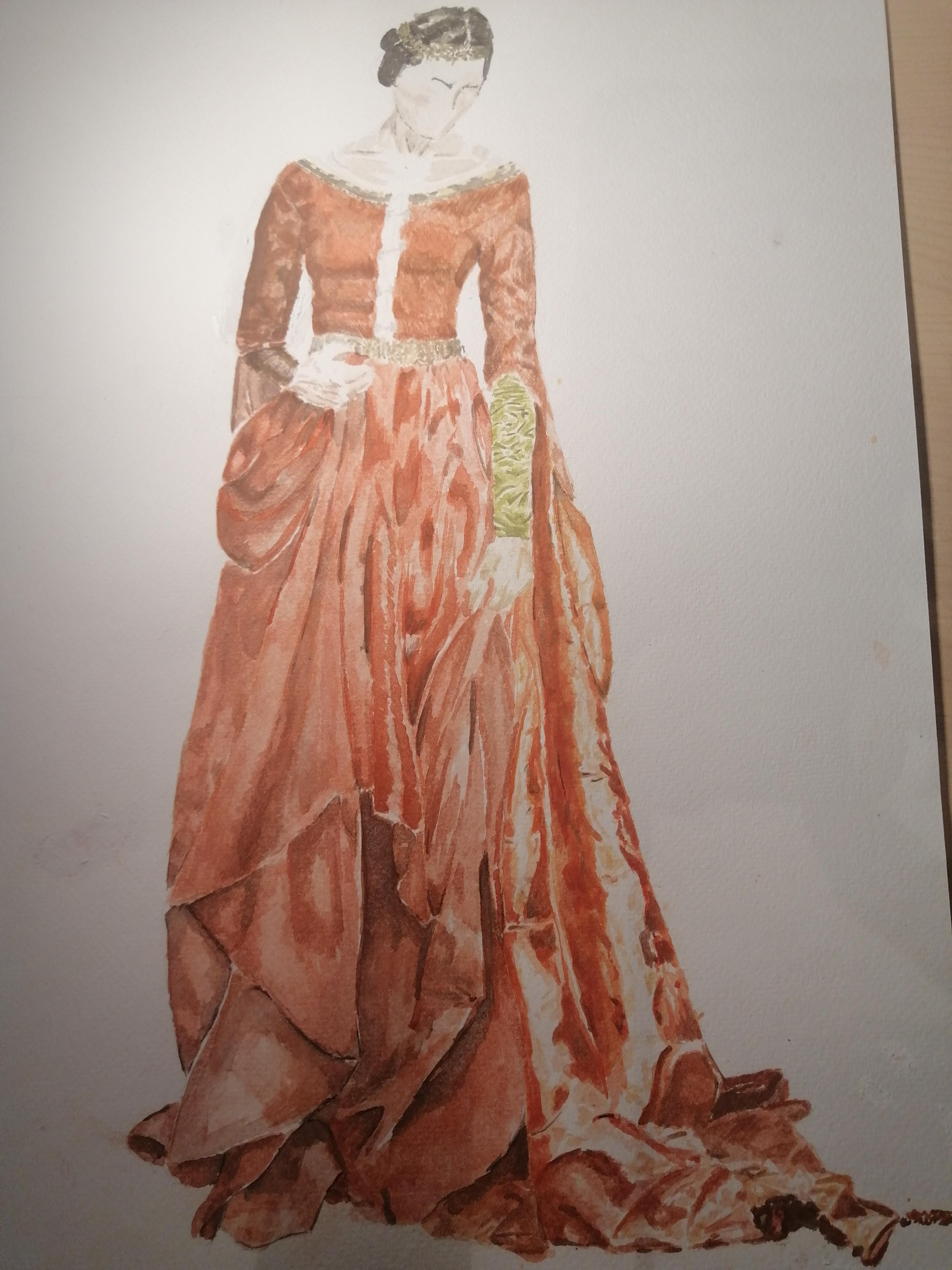 Bernadette banners medieval dress watercolor me 2020 art