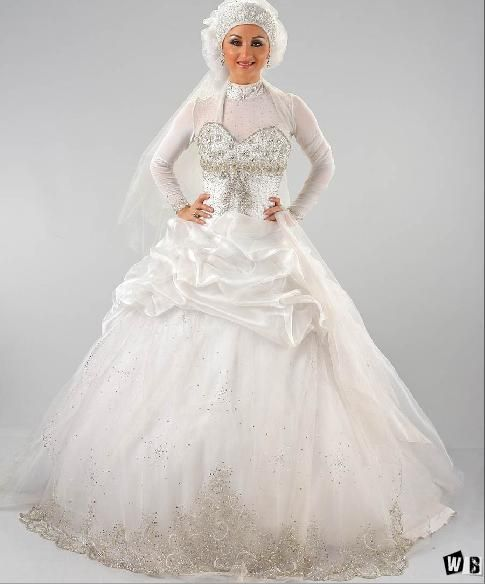صور فساتين افراح فساتين افراح للمحجبات فساتين زفاف 2014 Gowns Victorian Dress Wedding Gowns