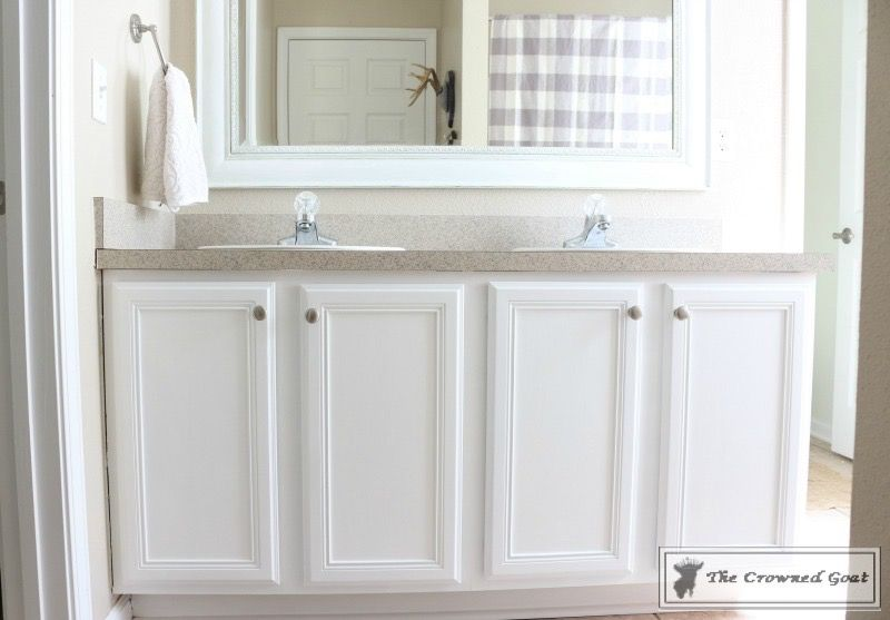 Painting A Bathroom Cabinet With General Finishes Milk Paint
