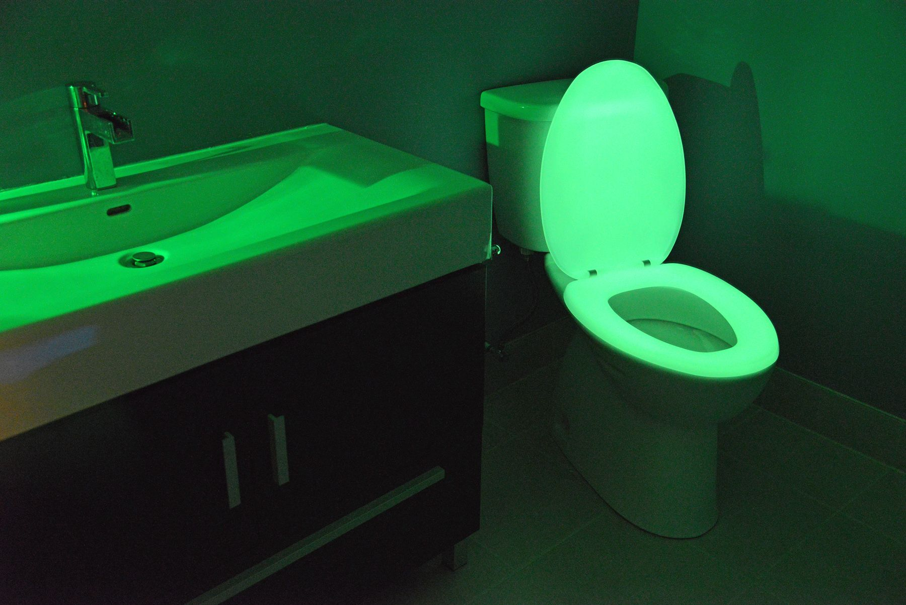 Man Cave Bathroom Night Glow Seats Guide The Way Toilet Seat