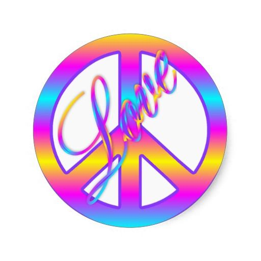 Peace And Love Signs Colorfulloveandpeacesignstickers