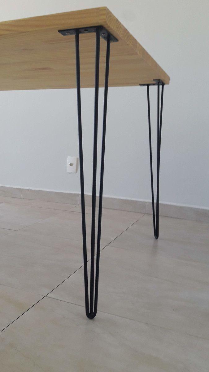 4 Hairpin Legs Pretos de 75cm no Elo7 | Madeira Us