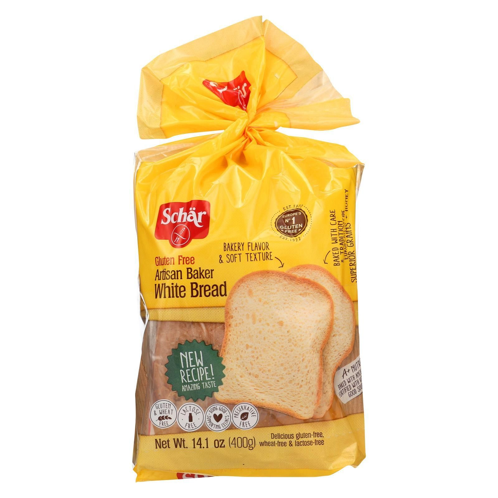Schar Artisan Baker Bread White Case Of 6 14 1 Oz Bread