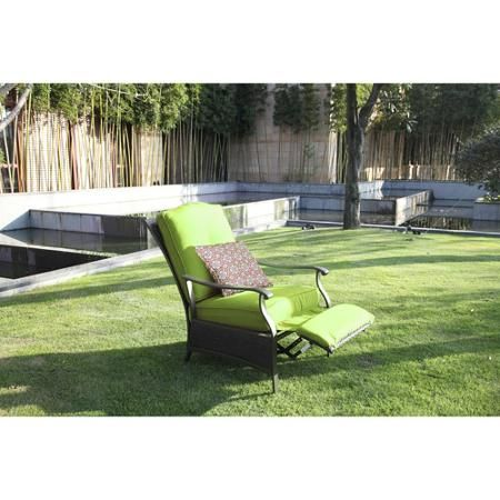 better homes and gardens providence outdoor recliner green. beautiful ideas. Home Design Ideas
