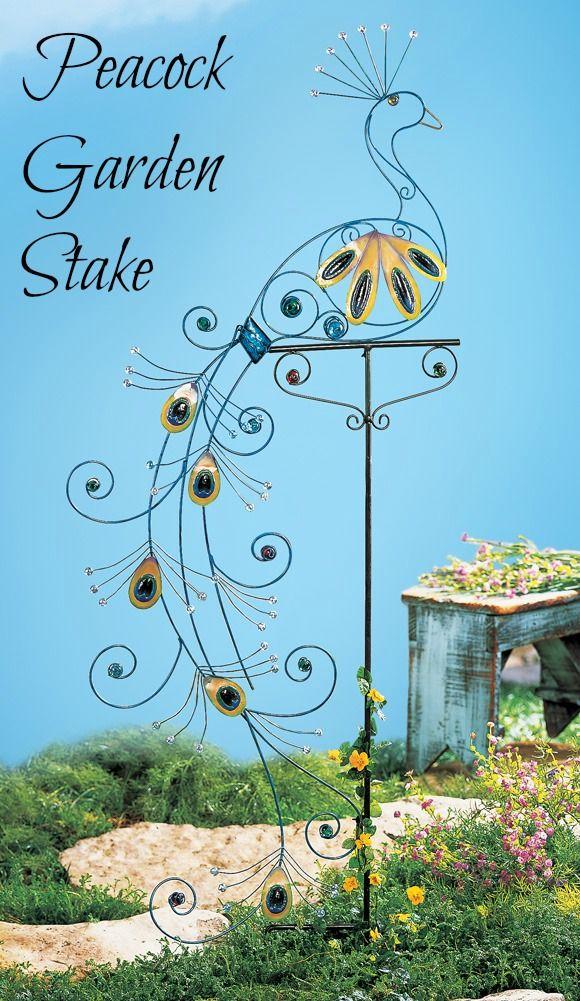 Peacock Garden Stake