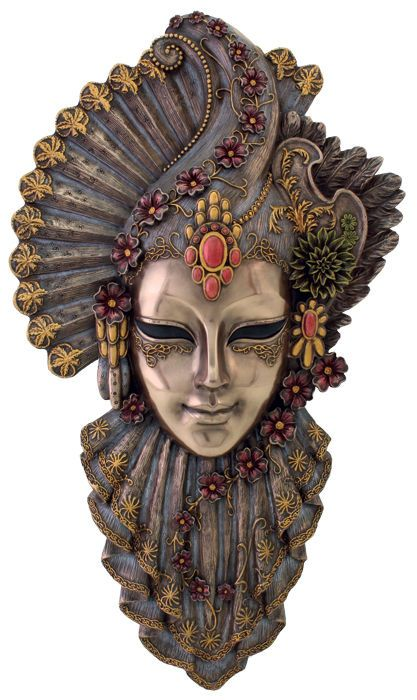Charm Venetian Mystique Mask Plaque Wall Decor