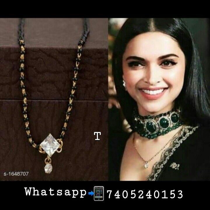Deepika Padukon Designer Mangalsutra | Gold fashion ...