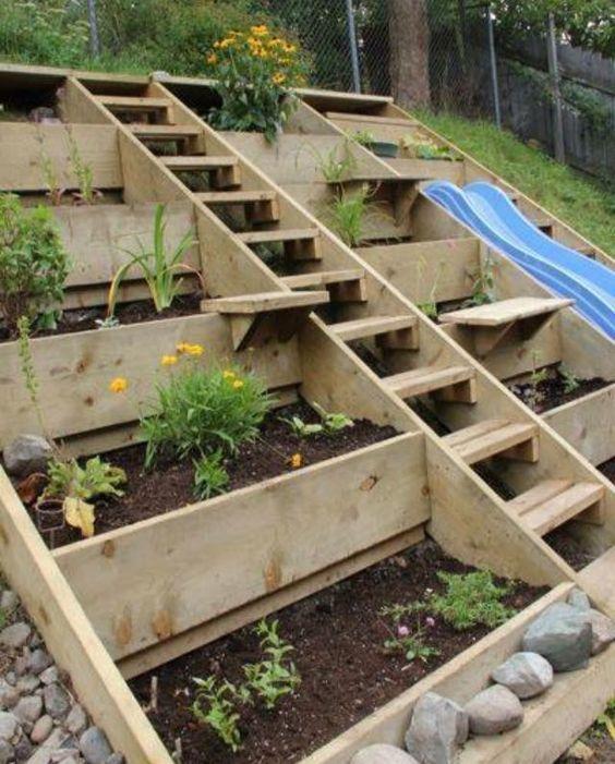 22 Amazing Ideas To Plan A Slope Yard That You Should Not Miss Paletten Garten Garten Am Hang Garten Landschaftsbau