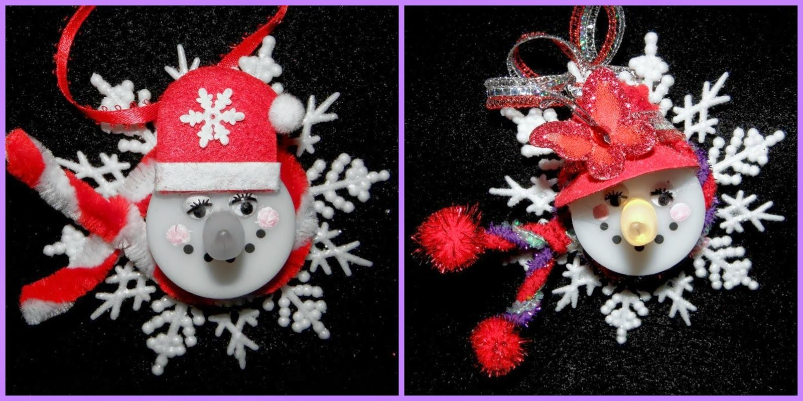 The Red Hat Society A Tea Light Ful Holiday Craft Tea Light Crafts Holiday Crafts Tea Light Snowman