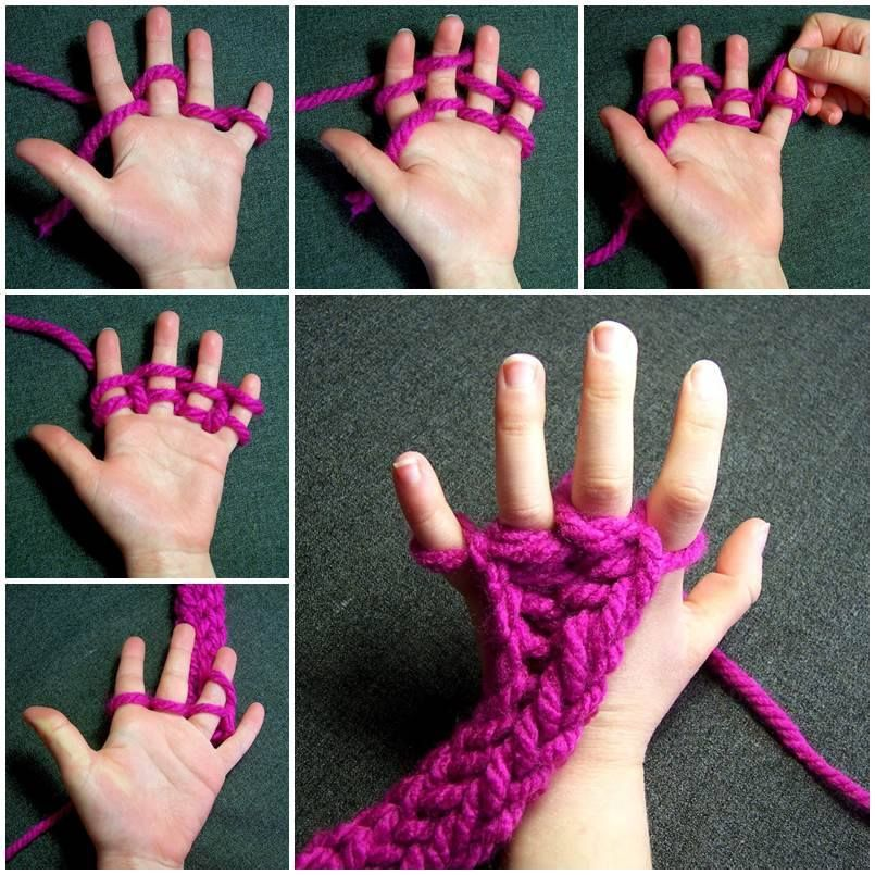 finger knitting projects A fun hobby like finger knitting is a great way to spend time being productive here are a variety of easy finger knit projects you can easily make at home.