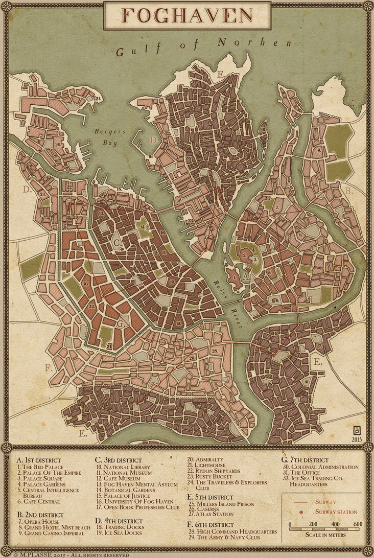 Fog Maps : Haven, Fantasy, World, Making,, Pathfinder