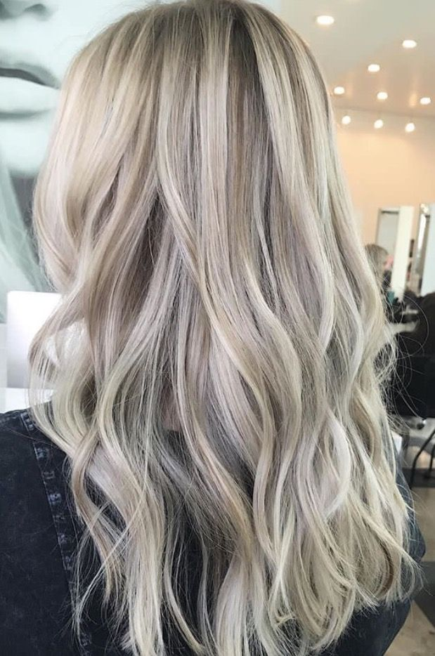 Blonde Balayage Wavy Hair Blonde Highlights Long Hair
