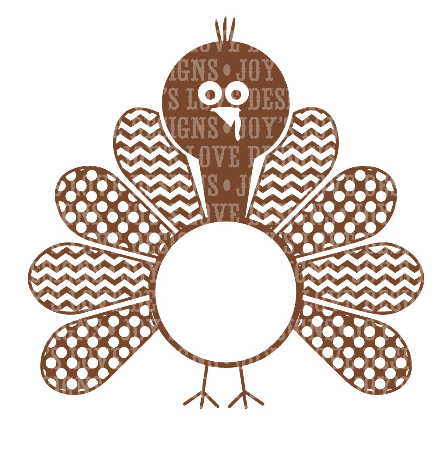 Turkey Monogram (Includes Girl Version) SVG and DXF